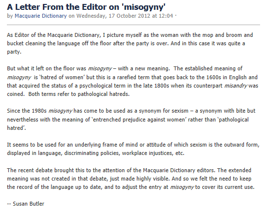 The meaning of misogyny is(n\'t) changing
