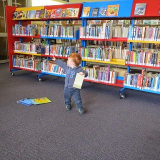 Playing hide-and-seek in the library – a toddler's guide