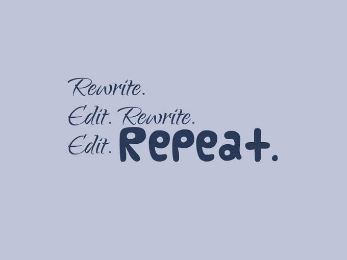 Edit rewrite repeat