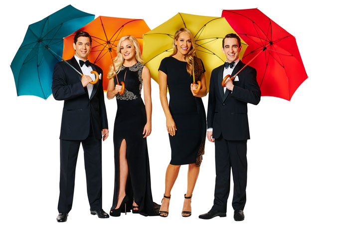 The main cast of Singin' in the Rain. Photo by Brian Geach – used with permission.