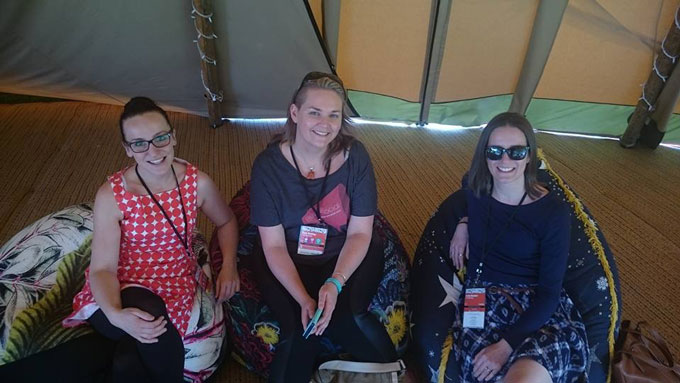 ProBlogger-conference-reclining-in-tents