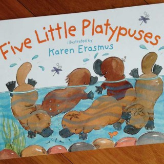 Five Little Platypuses – illustrated by Karen Erasmus (book review)