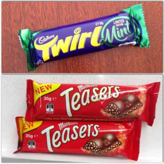 Maltesers Teasers vs Cadbury Mint Twirl – the choc-off